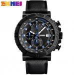 Wholesale Fashion 1/10 Stopwatch Chronograph Multifunction Genuine Leather Strap Quartz Waterproof 30m Watches 1350