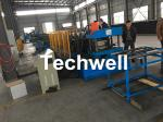 Hydraulic Pre - Punching Ladder Cable Tray Making Machine 0-15m/min