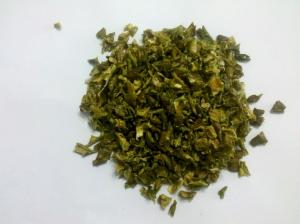 China Professional Custom Green Pepper Flakes , Dehydrating Chili Peppers on sale