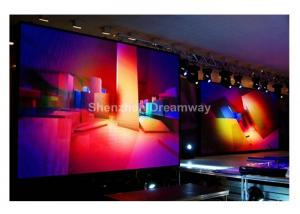 China HD 6mm Pixel Indoor Concert LED Screen Rental RGB Display With AVI WMV MP4 Formats on sale