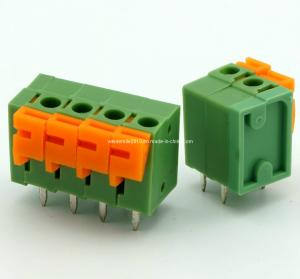 China PCB Screwless Spring Terminal Block Connector 7.62mm Pin Spacing Double Dual Row Bent Pin Header  (DG142R-5.08/7.62) on sale