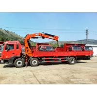 China Dongfeng Flat bed truck crane 12Tons Crane Truck knuckle boom cranes 25T GW sale  low price  WhatsApp:8615271357675 on sale