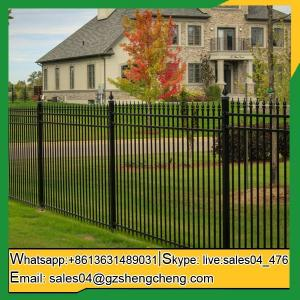 China Cue short wrought iron fence for dogs playing area on sale