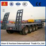 High Loading Capacity Low Bed Semi Trailer 3 Axle 60T 7950+1305+1305 mm Wheelbase