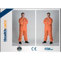 Grey Color Disposable Protective Coveralls One Piece With Durable Zipper For Korean Market