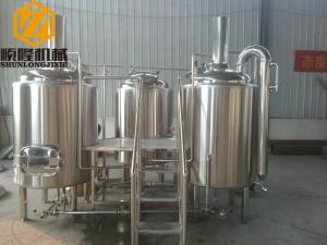 China Industrial Automatic Beer Making Machine , 500L 1000L Beer Brewing System on sale