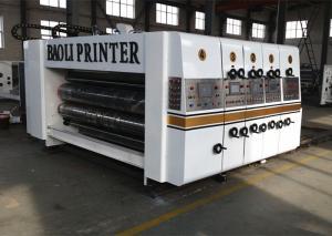 full automatic flexo printer slotter die cutter carton box machine
