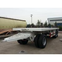 China 27 Feet-3 Axles-Draw Bar Flat Bed Trailer on sale