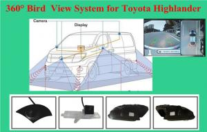 Quality High Resolution Car Reverse Camera System With 4 Wide Angle Cameras For Cars for sale