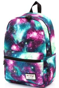 China Heat Transfer Print Polyester Galaxy Book Bag Inside Laptop Sleeve on sale