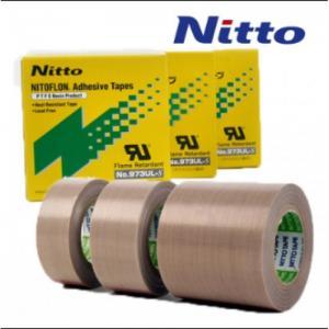 China Nitto 973UL High Temperature PTFE Teflon Fiberglass Tape with Silicone Adhesive on sale