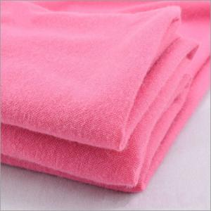 China Knit Solid Dyed 30s Poly Spun Single Jersey Kids Blanket Fabric on sale