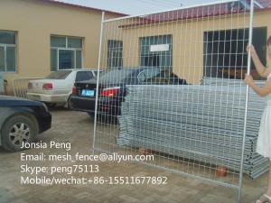 China 頑丈な5mm*2100*2400mmの溶接された網の一時的な塀の工場価格 on sale