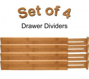China adjustable bamboo wooden drawer dividers silverware dividers on sale