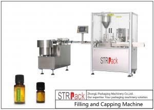 China 5-60ml Boston Bottle Essential Oil Filling Machine And Capping Machine With 2 Head on sale