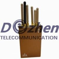 3G 4G Mobile Phone GPS Jammer 10 Meters Radius 400g Weight With Brown Color