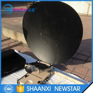 China 1.2m carbon fiber automatic portable or flyaway small satellite dish antenna on sale
