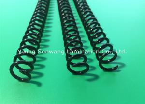 China 円形の黒いプラスチック螺線形は7/16を巻きま、本のための結合のコイルの鍵を開けます on sale