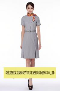 China Elegant  Flight Stewardess Uniforms Fly Attendant Costume Hostess Lady Dress Clothing on sale