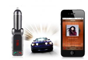 China Bluetooth Car Mobile Charger FM Transmitter Quick Charge Power Bank With USB Flash Driver on sale