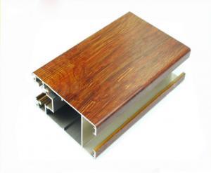 China Quality Light Aluminium Window Profiles , Wood Finished Extruded Aluminium Profiles on sale