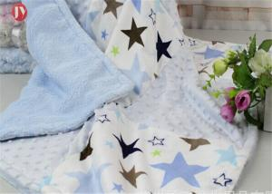 China Breathable Comfort Custom Baby Blankets , Bubble Patchwork Baby Blanket Double Microfleece Layer on sale