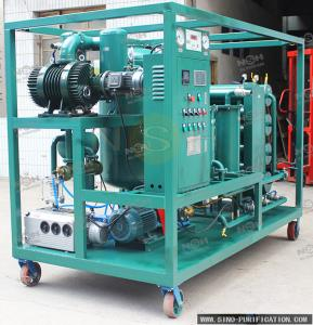 China Double Stage Mobile Type Vacuum Oil Filter Machine With Variable Flow Capacity on sale