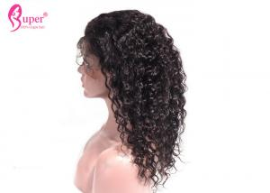 China Deep Wave Weave Full Lace Human Hair Wigs With Baby Hair Double Drawn on sale