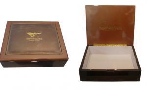 China Caja de madera modificada para requisitos particulares, cajas de regalo del recuerdo con el logotipo del sellado/laser del calor on sale