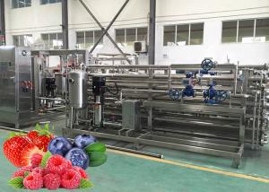 China CIP Cleaning Fruit Processing Line Strawberry Juice Processing Machine ISO9001 on sale