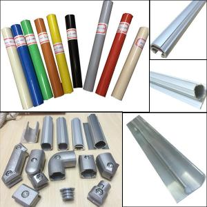 China Lean pipe assemble pipe rack PE coated pipe and auminum pipe and joint System on sale