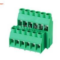 pcb terminal block 6.35mm 2 rows  RD635B plug and socket terminal block