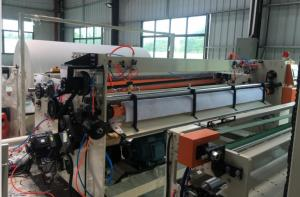China Accumulator Device Toilet Paper Production Line Rewinding MITSUBISHI PLC Control on sale