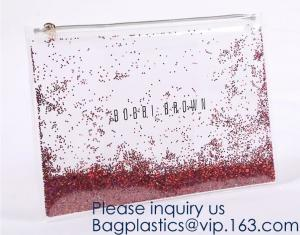 China Custom Logo Glitter Cosmetic Makeup Eva Clear Pouch / Pouches,Smiggle Pencil Case With Glitter,Tissue Bag CD Case Docume on sale