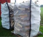 Ventilated Firewood Mesh PP Bulk Bag Two Side Stripe Fabric 100% Virgin Polypropylene