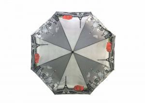 China Anti Uv Foldable Umbrella Automatic Windproof Foldable Heat Transfer Printed on sale