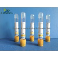 China SST Serum Collection Tubes , PET / Glass Serum Separator Tube 3ml 4ml on sale