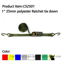 China CS2501 1 25mm polyester ratchet tie down on sale