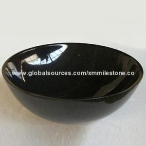 China Shanxi noircissent l'évier de navire de granit avec le finissage de qualité supérieure, forme différente sont disponible on sale