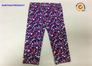 China 0 - 24 M Size Toddler Girl Printed Leggings With Self Case Waistband on sale