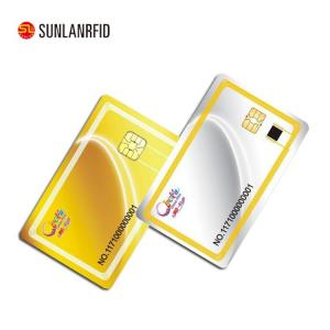 China 2018 High Security Level CPU Chip Proximity Cards Smart Contact IC Card on sale