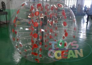 China Human Sized Transparent Inflatable Bumper Ball Amazing Red For Kids SGS / CE on sale