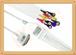 China Nihon Kohden Ecg Monitor Cable One Piece Ecg Cable With Screws Snap IEC on sale