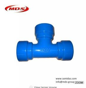 China ISO2531/EN545 Ductile iron all socket tee pipe fittings on sale