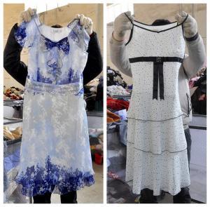 China comfortable cotton ladies used dress on sale