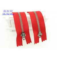 China Antique Silver Close End  Metal Teeth Zipper Decorative For Bags / Garments / Pants on sale