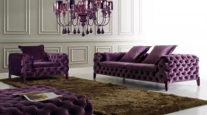 Quality Living room couches , Ginotti Luxury Sectional Sofa Set , Italy Chesterfield fabric sofa for sale