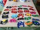 Multi Colors Masquerade Party Masks , Party Felt Superhero Mask Customized Size