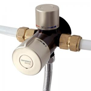 China 3 Way Thermostatic Mixing Valve 1/2'' Brass Solar Shower System Anti Cold Shock on sale