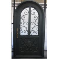 Arched wrought iron entry doors, single & double exterior iron front doors steel main wrought iron door